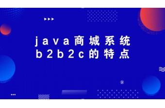 java商城系统b2b2c的特点